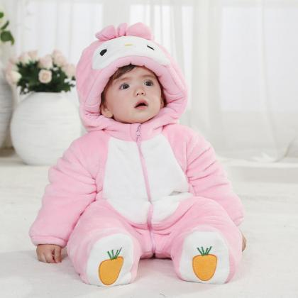 66be638759a1 PINK RABBIT ECO FRIENDLY BABY HOODIE VEST BABY CLOTHES UNISEX ...