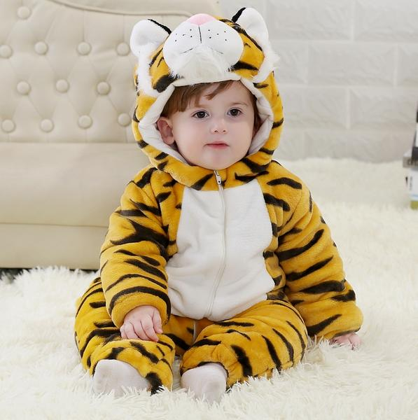 55510a7f1156 TIGER ECO FRIENDLY BABY HOODIE VEST BABY CLOTHES UNISEX PLAYSUITS ...