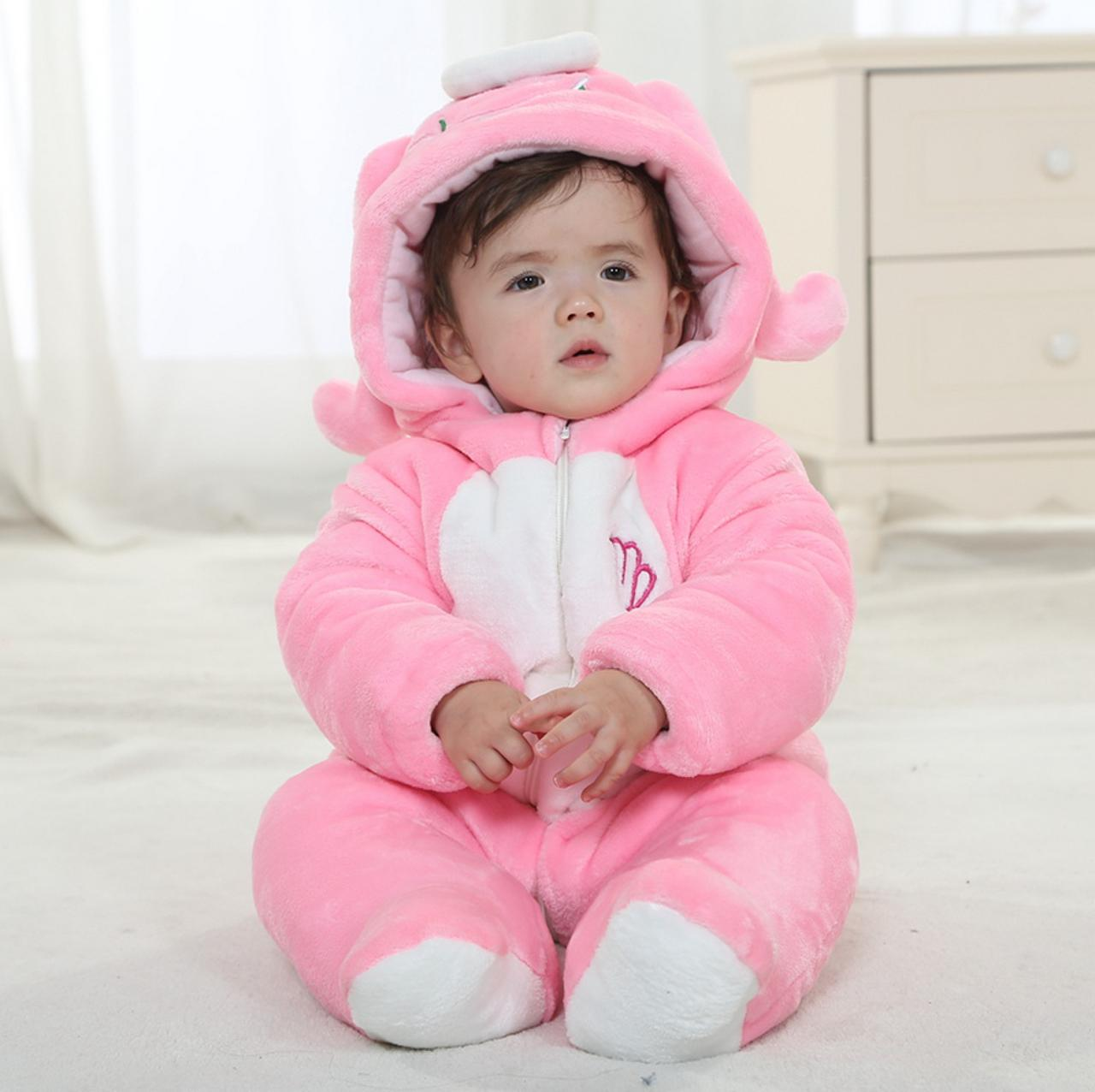 b68f2f0c9 Virgo Winter Type Leopard Unisex Playsuits Romper Toddlers Jumpsuit ...