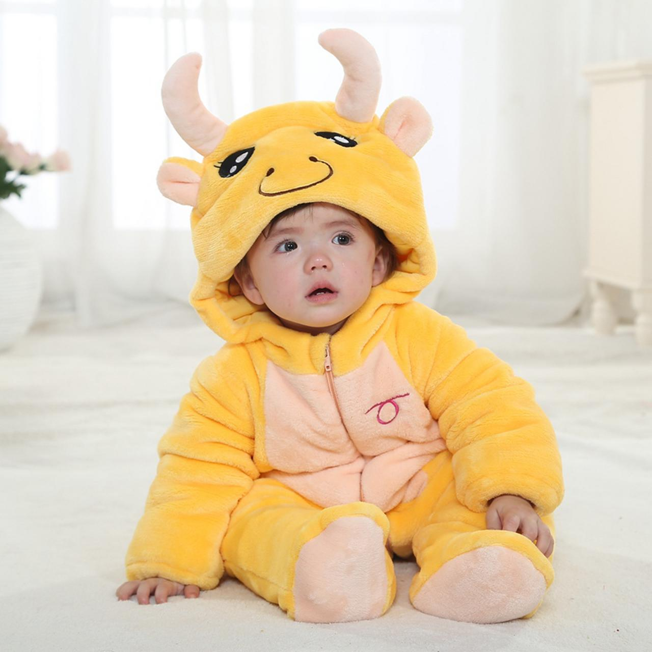 1606cec876c5 Taurus Winter Type Unisex Playsuits Romper Toddlers Jumpsuit Cute ...