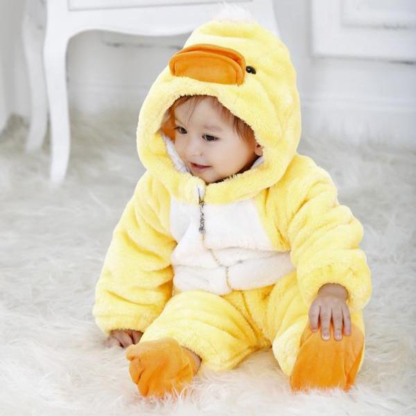Eco friendly Yellow Duck Baby Hoodie Baby Onesie Baby Clothes Gift for New Baby,Personalized Baby Onesie,Christmas Baby,cute baby onesie
